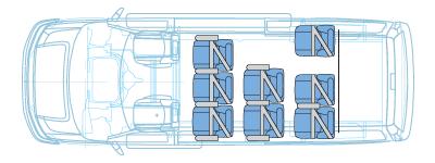 10 passenger van floor plan