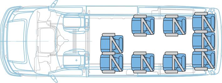 11-Passenger layout