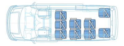 11 passenger van floor plan