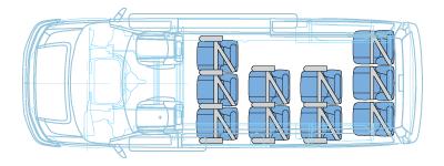 12 passenger van floor plan