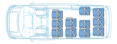 13 passenger floor plan